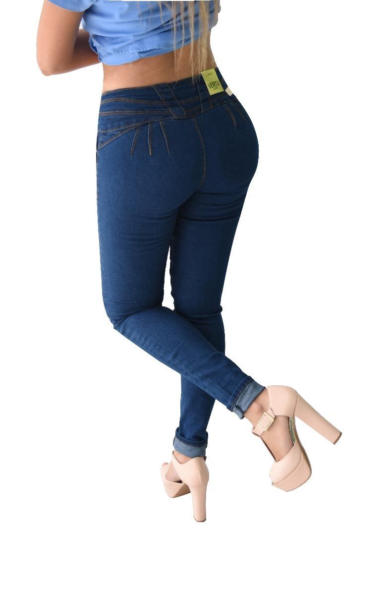 ae069c4c87b pantalones colombianos jeans dama mezclilla push up v-f27. Cargando zoom.