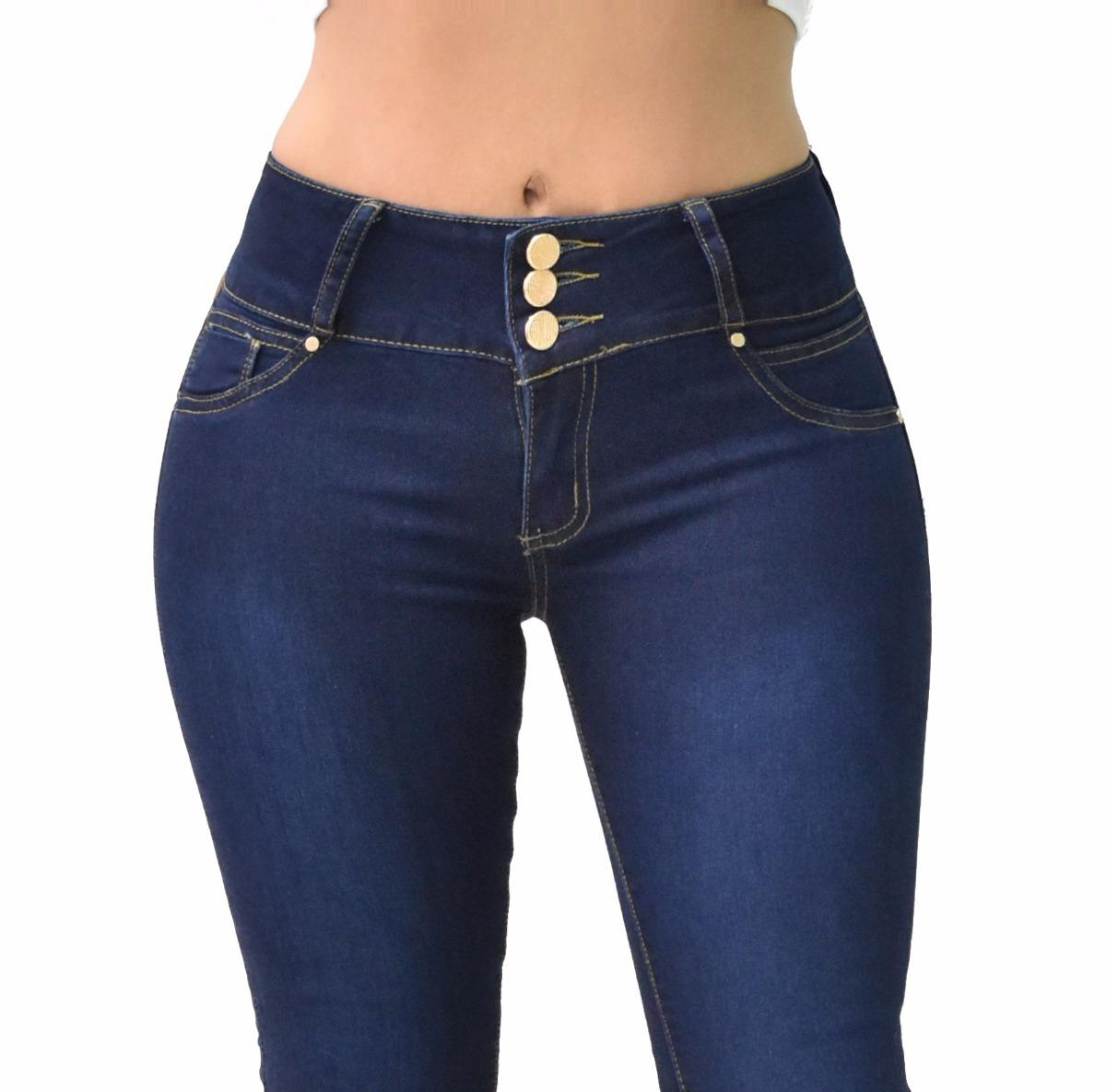 398007c2af9 pantalones colombianos jeans dama mezclilla push up v-f33. Cargando zoom.