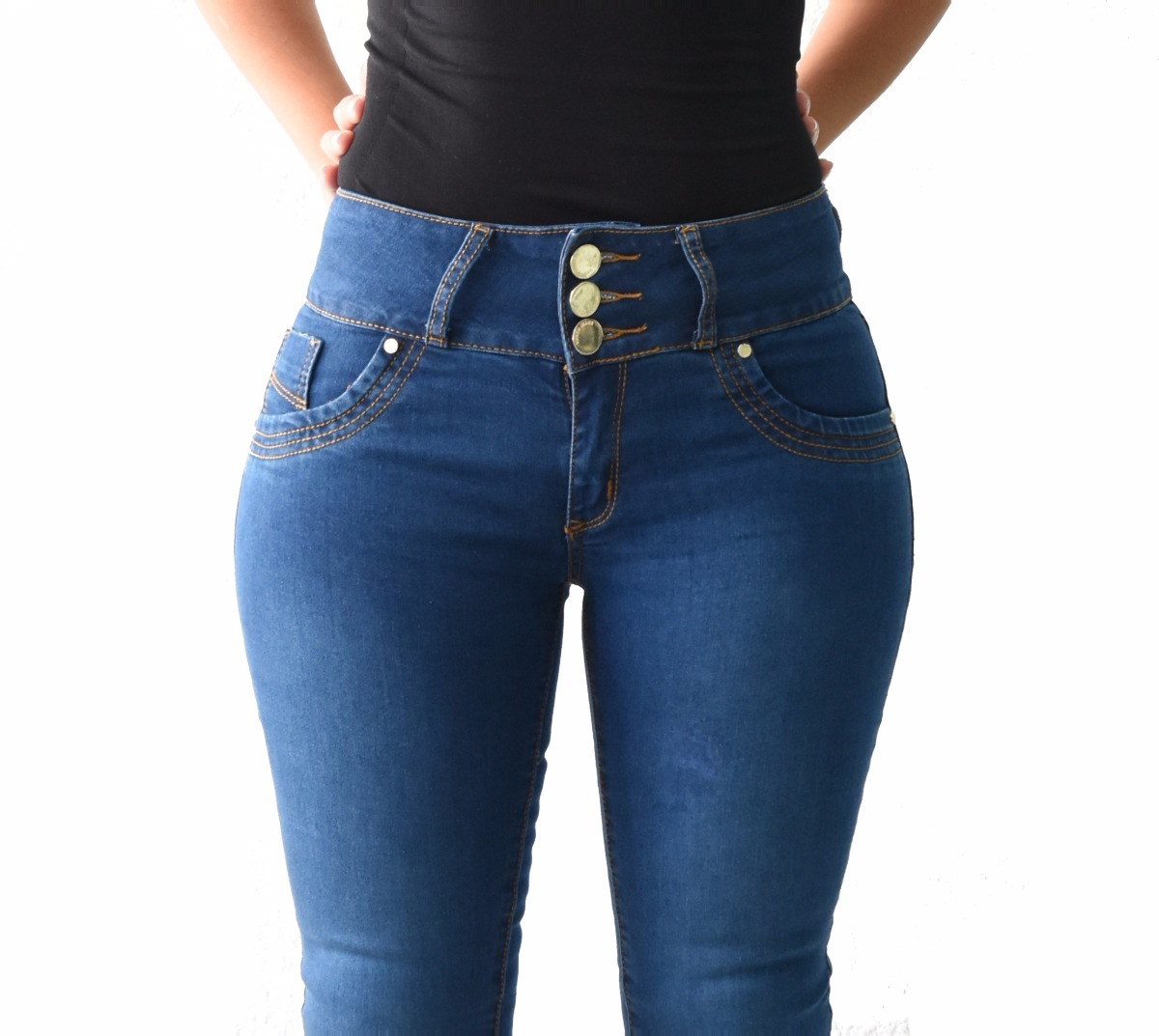 a7d9e036fb5 pantalones colombianos jeans dama mezclilla push up v-f36. Cargando zoom.