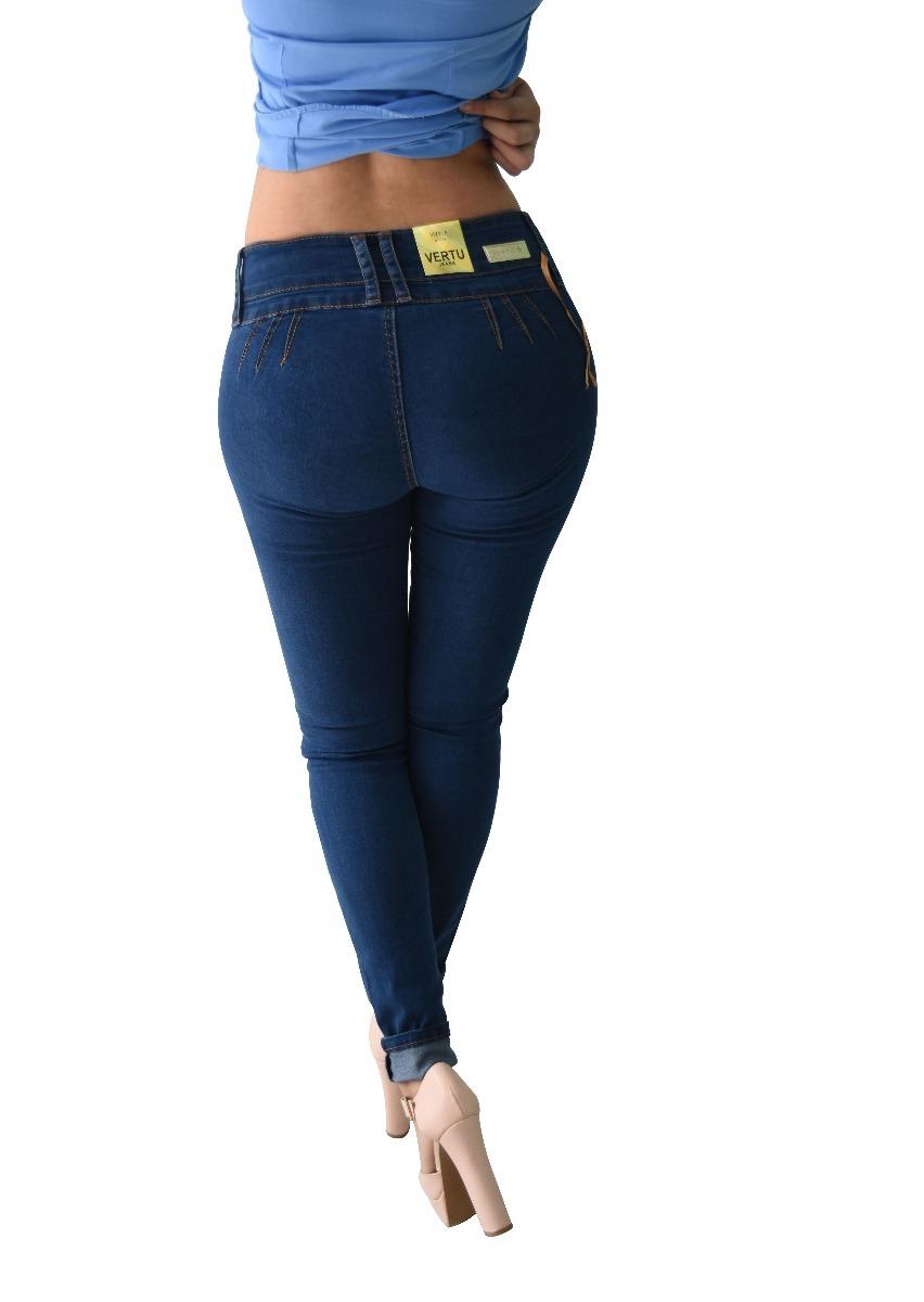 49f6a7b4913 pantalones colombianos jeans dama mezclilla push up v-f48. Cargando zoom.