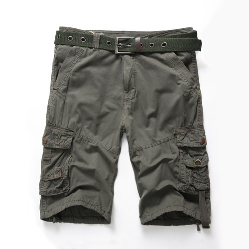 pantalones cortos carga algodón de los hombres pantalones c