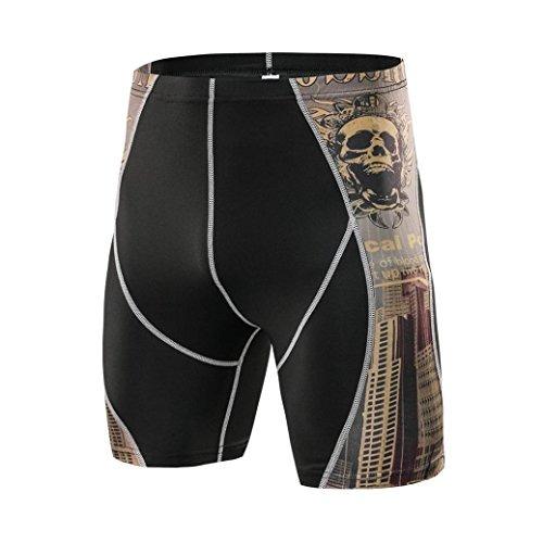 fotos oficiales 5bfb8 3cf9e Pantalones Cortos De Compresion De Fitness Para Hombres Naco