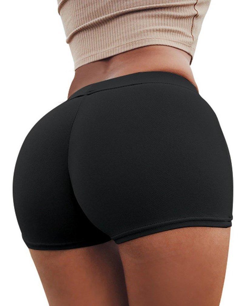 apariencia elegante diseño elegante estilo exquisito Pantalones Cortos De Fondo Elástico Ajustados Pantalones De