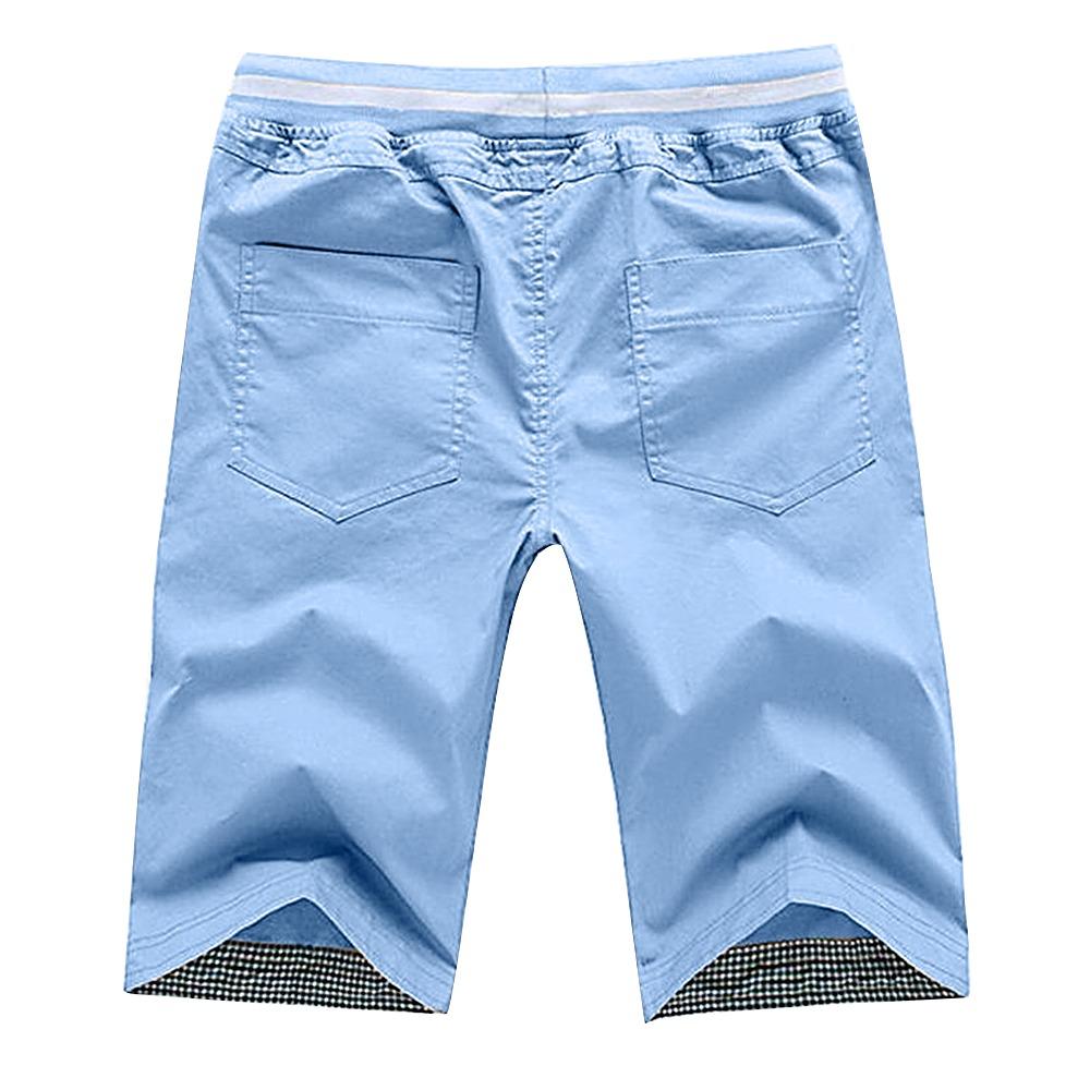 Pantalones Hombre Cortos De Multico Delgado Algodón Playa 4ARL5j3qc