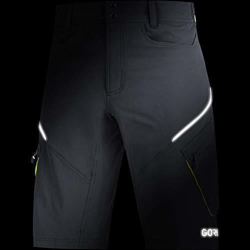 negro S GORE WEAR C3 Pantal/ón corto para hombre