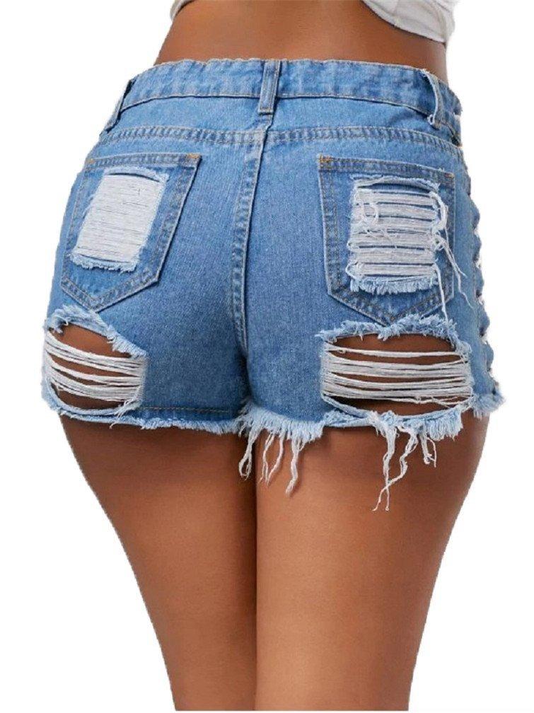 20b99dd3643 pantalones cortos sexy destruido vaqueros cortos mini calien. Cargando zoom.
