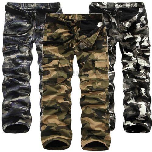 pantalones de algodón militar cargo... (navy camo.)