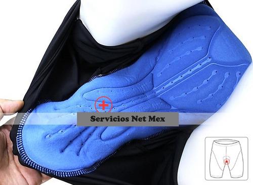 pantalones de ciclismo hombres acolchados transpirable /