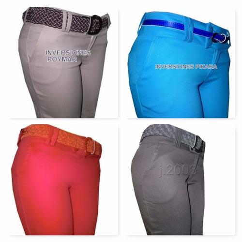 pantalones de colores para dama toda ocasion casuales