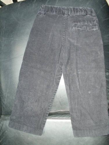 pantalones de corduroy negro para niño de tres años- nautica