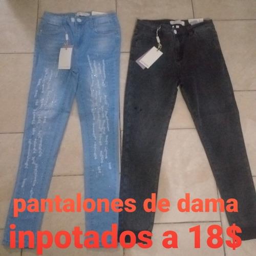 pantalones de dama a buen precio todas las talla y variedad