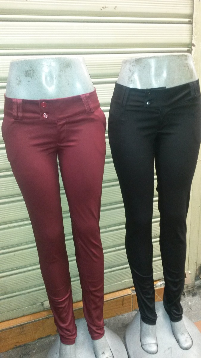 Pantalones De Drill Semistrech De Dama Varios Colores - Bs ...