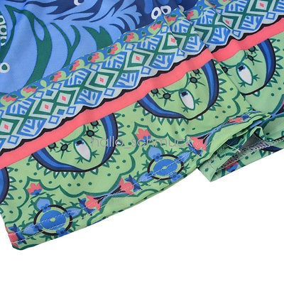 pantalones de las mujeres boho floja impresión playa... (l)