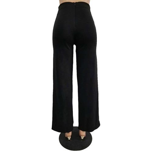 pantalones de las mujeres brillo preto xl