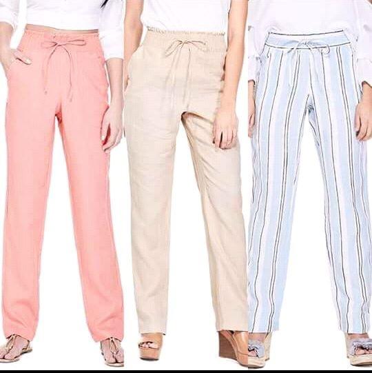63a9038017ac4 Pantalones De Lino De Dama Guess -   1
