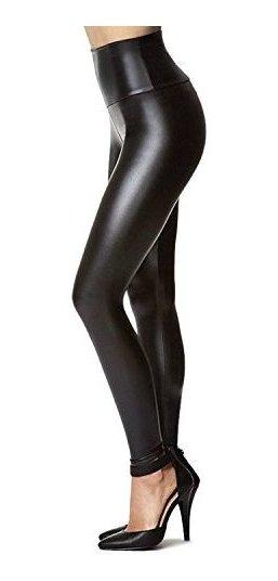 60d8b0bf0 Pantalones De Polainas De Cuero Sintético Elásticos De Las M