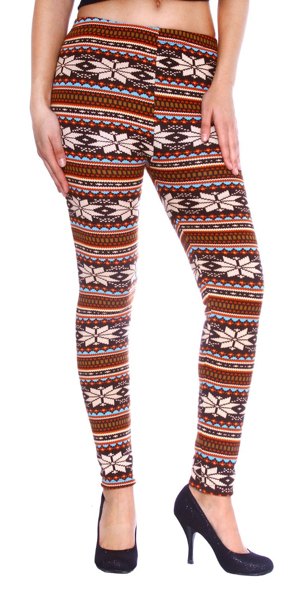 Pantalones De Punto Caliente Nórdico Copo De Nieve Patrón - $ 91.990 ...