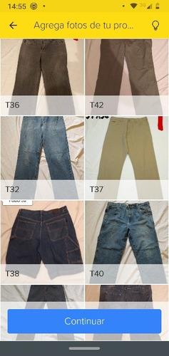 pantalones de uso de mezclilla