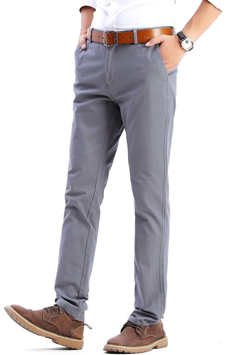 Pantalones De Vestir Casuales Slim Fit Para Hombre Panta