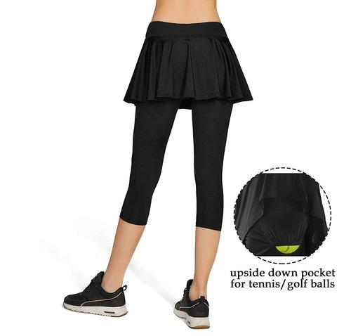 pantalones de yoga capris para mujer medias faldas depo...