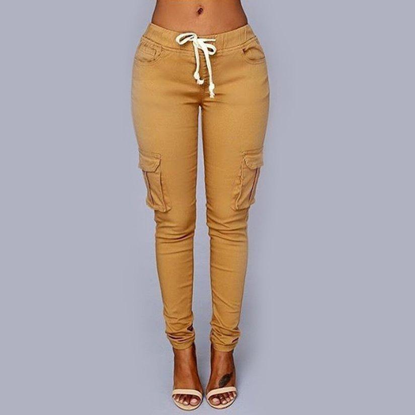 Pantalones Deportivos De Mujer Pantalones De Bolsillo Con Co 531 65 En Mercado Libre