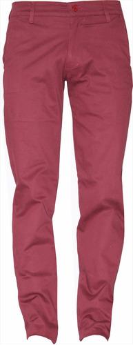 pantalones dril elástico slim fit - envío gratis