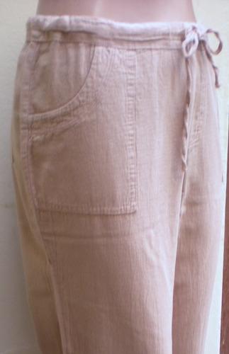 pantalones en tela bahia para damas