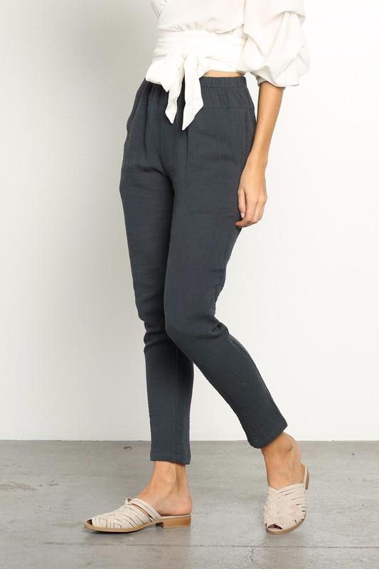 Pantalon Gris Mujer Tienda Online De Zapatos Ropa Y Complementos De Marca