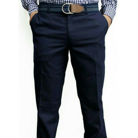 66a362ee9 Pantalon Vestir Stretch Azul Talla - Pantalones de Hombre en Mercado ...