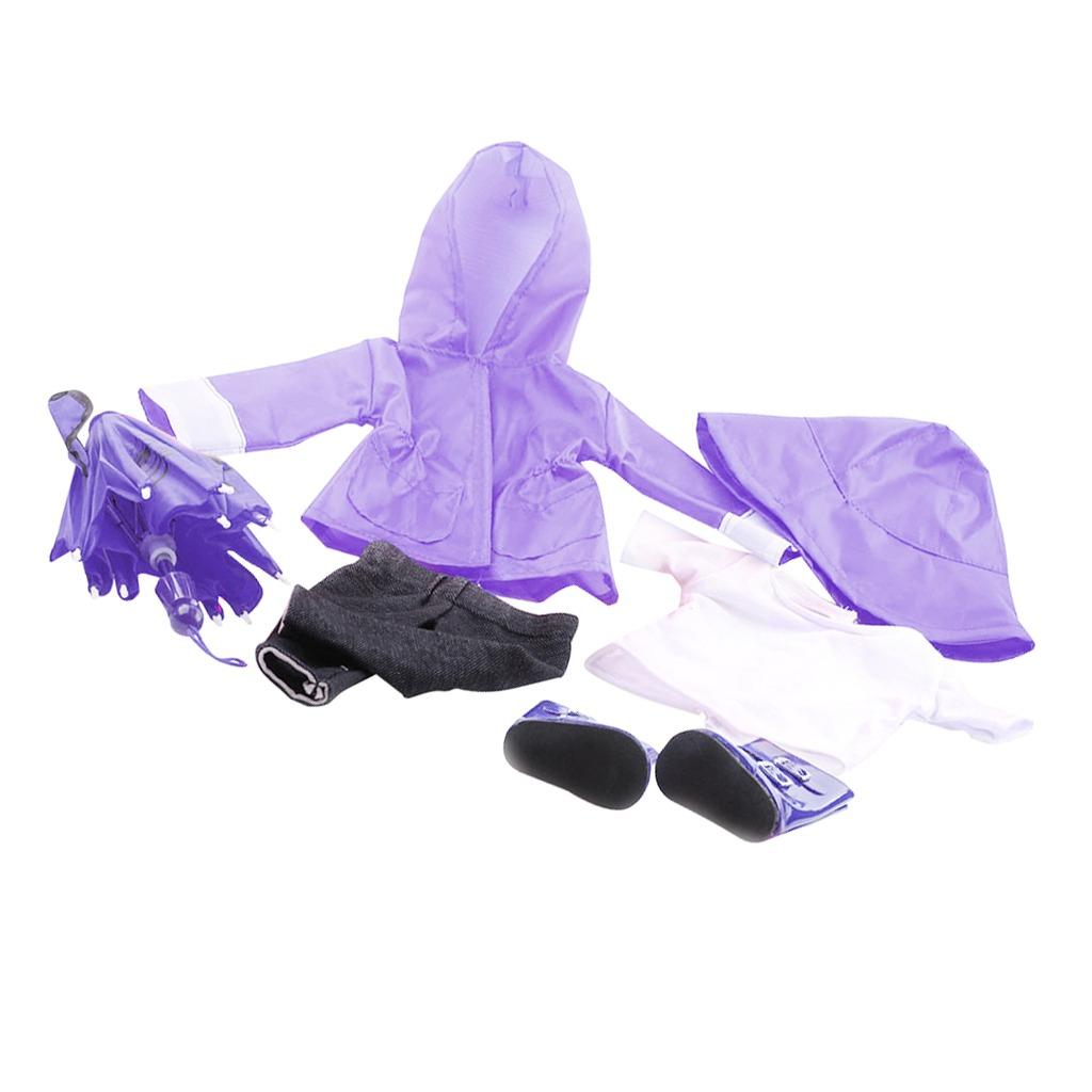 Pantalones Impermeable Botas Sombrero Set Paraguas Para 18 ...