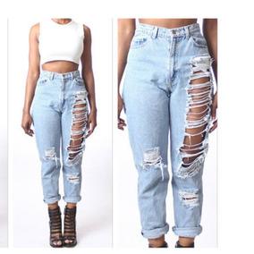 078498ddb8 Pantalones Rotos Tipo Clasa - Pantalones de Jean para Mujer en Mercado  Libre Uruguay