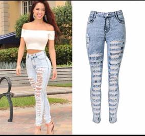 376b779dde Pantalones Rotos Tipo Clasa - Pantalones de Jean para Mujer en ...