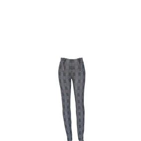 7fcba2b5ab Pantalón Cuadros Gris Con Negro Hermoso Moderno Entalla Lind