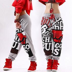 20d74dd02ba46 Pantalon Pans Mujer Harem Hip Hop Moda Chicago Bulls