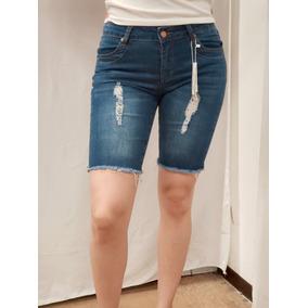 6db426c68d Bermuda Short Mezclilla Jeans Dama Authurna Denim An-d3021