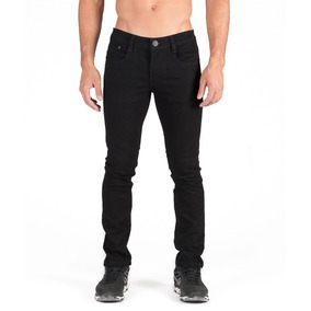 3cd2c7d8fd Pantalón Negro Caballero Skinny Slim Bolsa Seccionada por Opps Jeans
