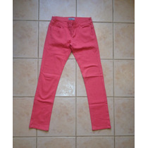 Jeans Pantalones Mezclilla Color Coral Pitillos Opositeoppos