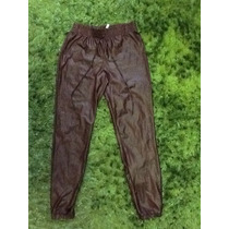 Bellos Pantalones Tipo Bombachos Simil Ecocuero Enterito