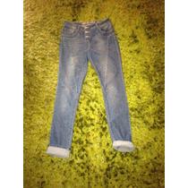 Pantones Jeans Pitillos Tiro Alto A La Cintura