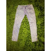 Pantalones Jeans Pitillos Maui Mezclilla Morados