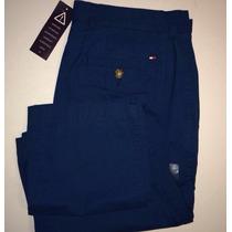 Pantalones Hombre Tommy Originales Talla 30 Azul Gris