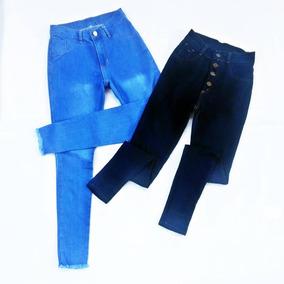 a2158667afb Pantalones Jeans Corte Alto Damas Talla Ss S M L Xl