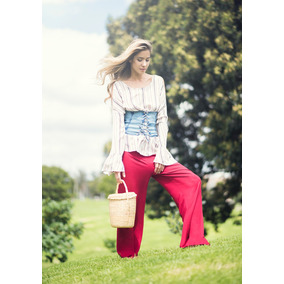 4659c27577 Pantalones Anchos Para Mujer Studio F - Pantalones y Jeans al mejor ...