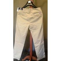 Pantalon Hollister Beige Chino Straight Importado De Eeuu