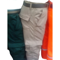*multibolsillo Pantalon Cargo En Drill Sanforizado, Oferta *