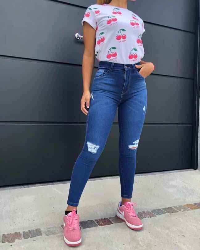 comprar online venta usa online nuevos productos para Pantalones Jeans Rotura Clásico Mujer Moda 2019