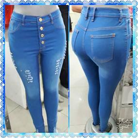 mejores zapatillas de deporte mejor forma elegante Pantalones Jeans Strech Sexy De Dama Corte Alto.