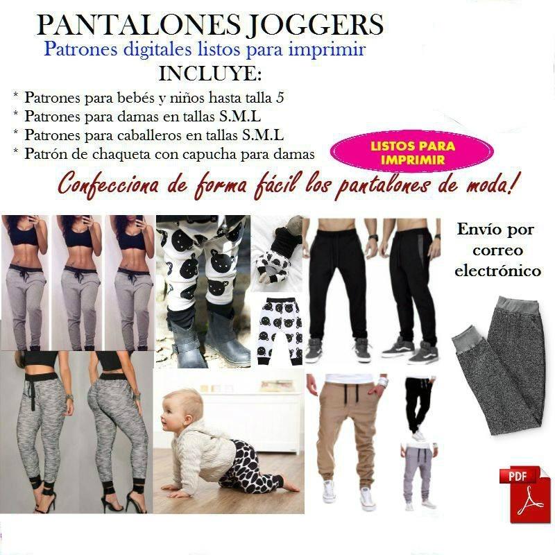 Pantalones Joggers, Patrones En Pdf, Damas, Caball Y Niños - Bs. 180 ...