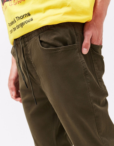 pantalones joggers tubito slim fit skinny hombre moda drill