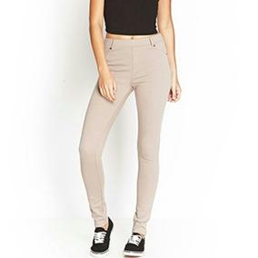 8ae1dd77f Leggins Beige Tubito Damas - Pantalones de Mujer en Mercado Libre ...